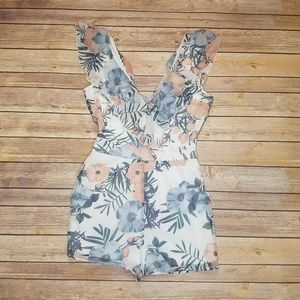 Charlotte Rouse floral Romper